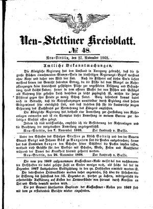 Neustettiner Kreisblatt vom 27.11.1868