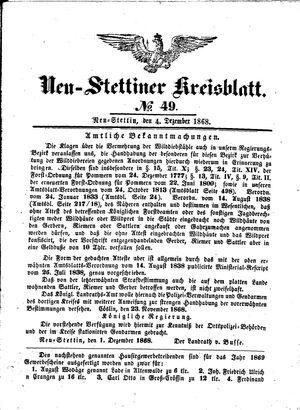 Neustettiner Kreisblatt vom 04.12.1868