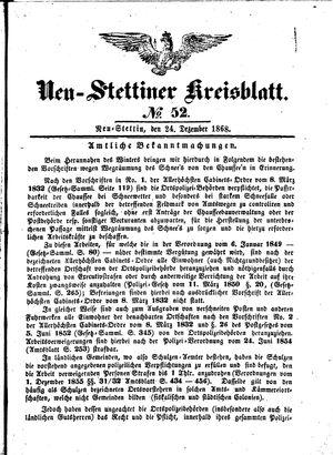 Neustettiner Kreisblatt vom 24.12.1868