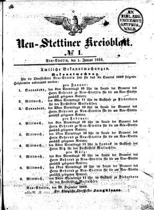 Neustettiner Kreisblatt vom 01.01.1869