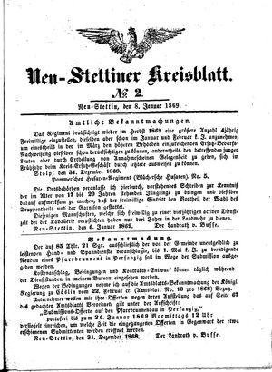 Neustettiner Kreisblatt vom 08.01.1869
