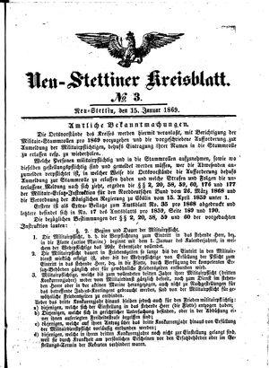 Neustettiner Kreisblatt vom 15.01.1869