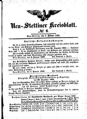 Neustettiner Kreisblatt vom 05.02.1869