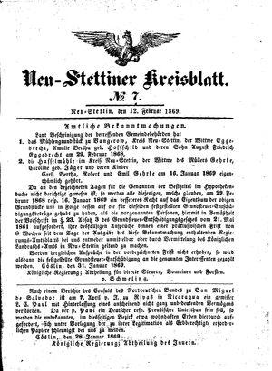 Neustettiner Kreisblatt on Feb 12, 1869