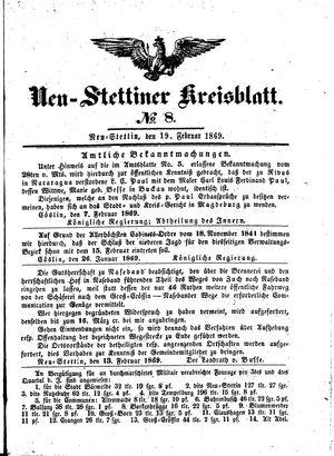 Neustettiner Kreisblatt vom 19.02.1869