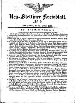 Neustettiner Kreisblatt vom 25.02.1869