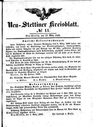 Neustettiner Kreisblatt vom 12.03.1869