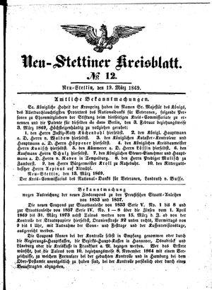 Neustettiner Kreisblatt vom 19.03.1869