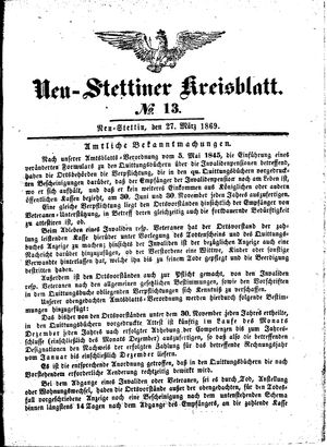 Neustettiner Kreisblatt vom 27.03.1869