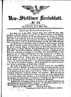 Neustettiner Kreisblatt on Apr 2, 1869