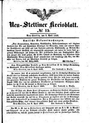 Neustettiner Kreisblatt on Apr 9, 1869