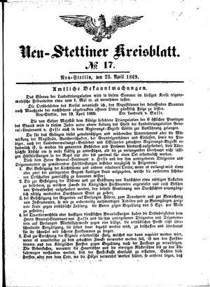 Neustettiner Kreisblatt vom 23.04.1869