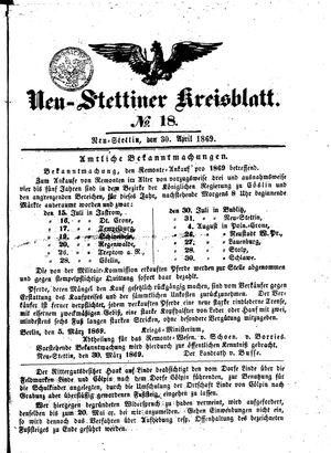 Neustettiner Kreisblatt vom 30.04.1869