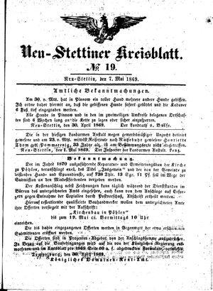 Neustettiner Kreisblatt vom 07.05.1869