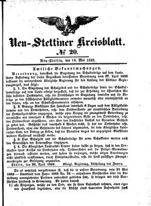 Neustettiner Kreisblatt vom 14.05.1869