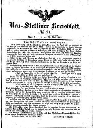 Neustettiner Kreisblatt vom 21.05.1869