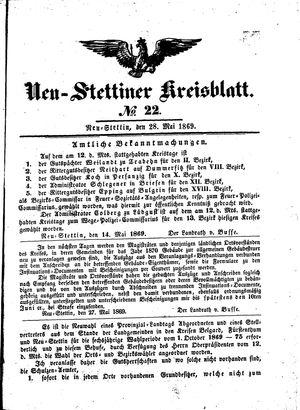 Neustettiner Kreisblatt vom 28.05.1869