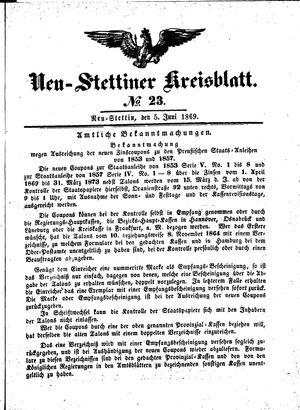 Neustettiner Kreisblatt vom 05.06.1869