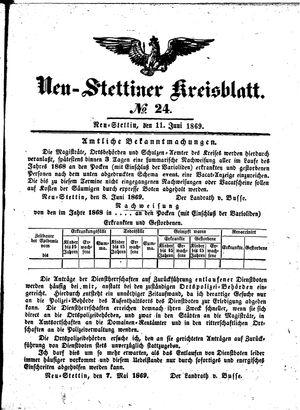 Neustettiner Kreisblatt on Jun 11, 1869