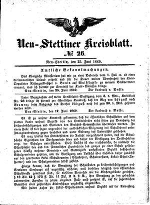 Neustettiner Kreisblatt vom 25.06.1869