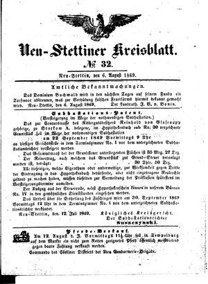 Neustettiner Kreisblatt vom 06.08.1869