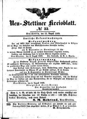 Neustettiner Kreisblatt vom 13.08.1869