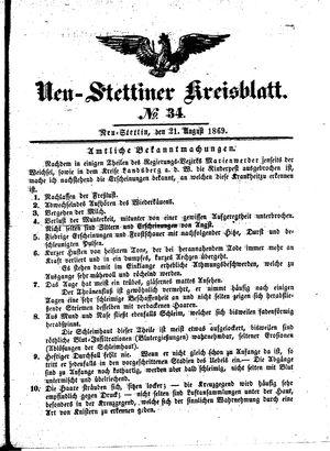 Neustettiner Kreisblatt vom 21.08.1869