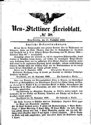 Neustettiner Kreisblatt vom 17.09.1869