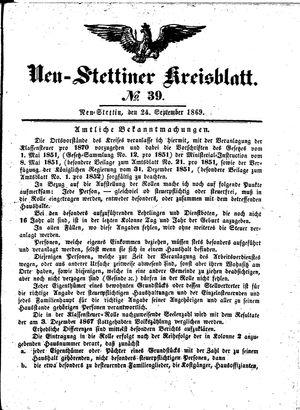 Neustettiner Kreisblatt vom 24.09.1869