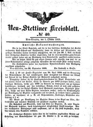 Neustettiner Kreisblatt vom 01.10.1869