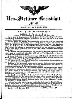 Neustettiner Kreisblatt vom 08.10.1869