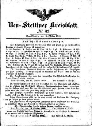 Neustettiner Kreisblatt on Oct 15, 1869