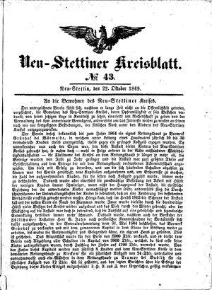 Neustettiner Kreisblatt vom 22.10.1869
