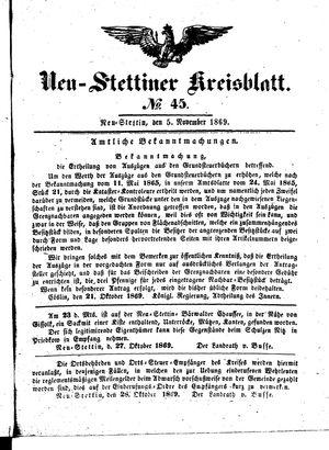 Neustettiner Kreisblatt vom 05.11.1869