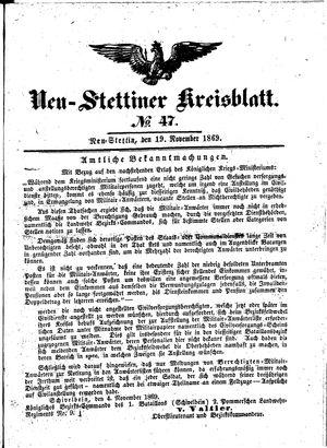 Neustettiner Kreisblatt vom 19.11.1869