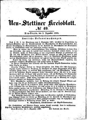 Neustettiner Kreisblatt vom 03.12.1869