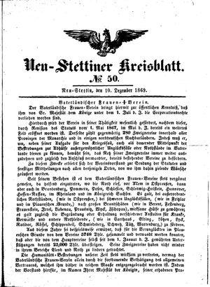 Neustettiner Kreisblatt vom 10.12.1869