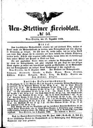 Neustettiner Kreisblatt vom 17.12.1869