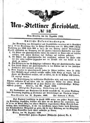 Neustettiner Kreisblatt on Dec 24, 1869