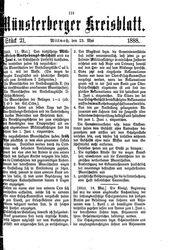 Münsterberger Kreisblatt (23.05.1888)