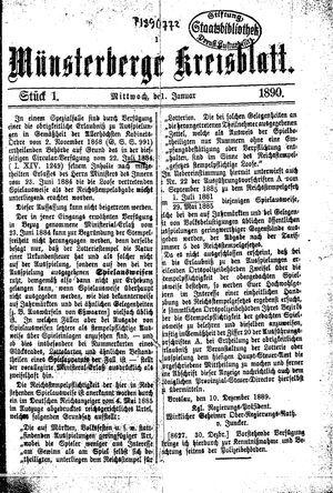 Münsterberger Kreisblatt vom 01.01.1890