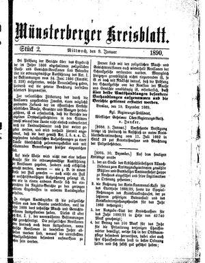Münsterberger Kreisblatt vom 08.01.1890