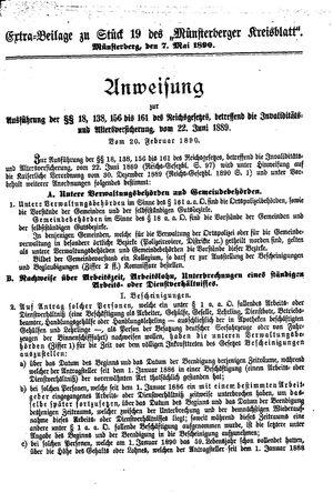 Münsterberger Kreisblatt vom 07.05.1890
