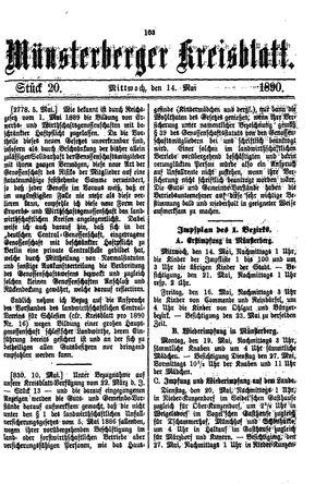 Münsterberger Kreisblatt vom 14.05.1890