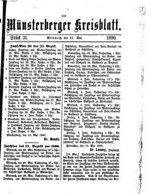 Münsterberger Kreisblatt vom 21.05.1890
