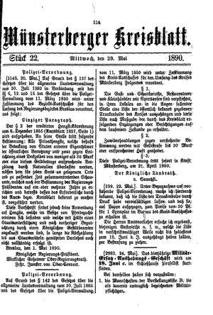 Münsterberger Kreisblatt vom 28.05.1890