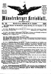 Münsterberger Kreisblatt (18.12.1912)
