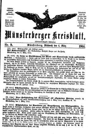 Münsterberger Kreisblatt vom 04.03.1914