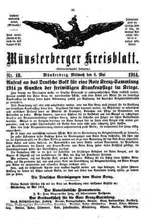 Münsterberger Kreisblatt vom 06.05.1914
