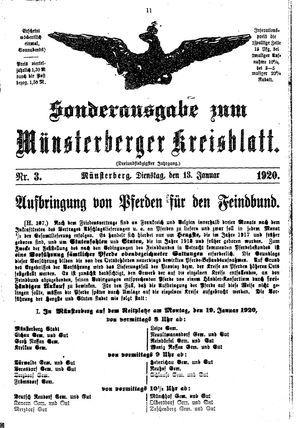Münsterberger Kreisblatt vom 13.01.1920